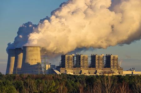 the modern power plant Boxberg Banco de Imagens