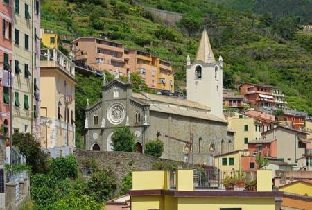 cinque: Cinque Terre Riomaggiore church