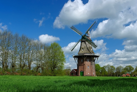 east: windmill Holtland in East Frisians