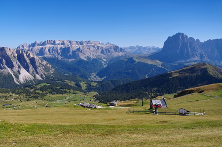 sella: Sella group mountains in italian  Dolomites Stock Photo