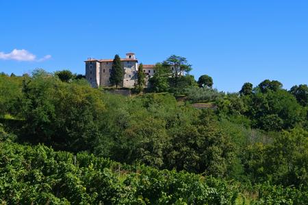 monastery nature: Rosazzo Abbey in northern Italy Stock Photo