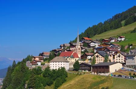 christina: Val Gardena St. Christina in Alps, Dolomites Editorial
