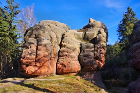 chalice: Chalice Rock in Zittau Mountains near Oybin
