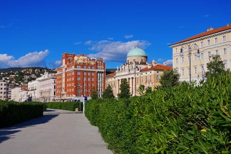 trieste: Trieste in Italy, Palazzo Carciotti Stock Photo