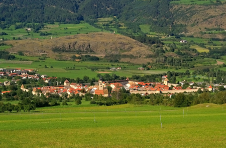 Le Glorenza città in Alto Adige Archivio Fotografico - 55046911