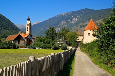 tyrol: the town Glurns in South Tyrol Stock Photo
