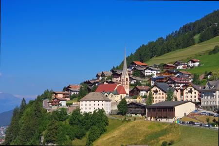 christina: Val Gardena St. Christina in Alps, Dolomites Stock Photo