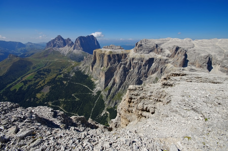 sella: Sella group in Dolomites, italian Alps