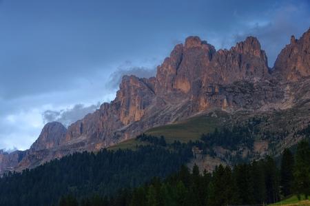 rosengarten: Rosengarten group in Dolomites, alpine glow