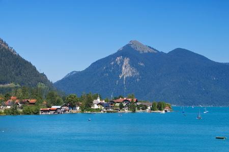 in bavaria: Walchenlake in Bavaria, Alps Stock Photo