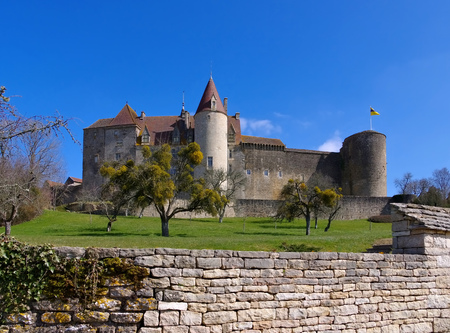 chateau: Chateau Chateauneuf-en-Auxois in Burgundy, France