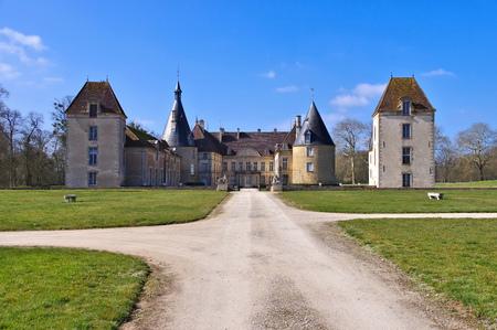 chateau: Chateau Commarin in Burgundy, France