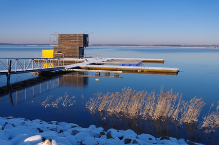 swimm: swimming house in winter, Lusatian Lake District