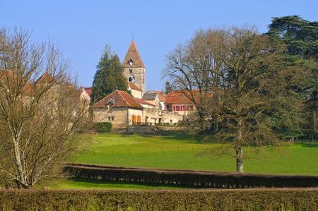 chateau: Chateau Saint-Seine-sur-Vingeanne in Burgundy, France Editorial