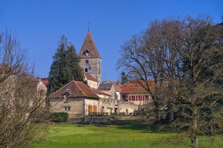Chateau Saint-Seine-sur-Vingeanne in Burgundy, France Editorial
