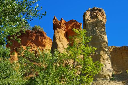 ochre: Rustel Colorado, Ochre, Luberon, Provence, France