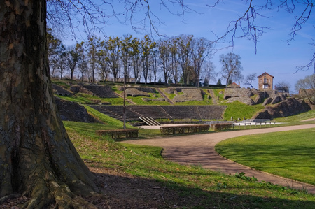 Autun in France, the old roman theatre, Burgundy Stock Photo