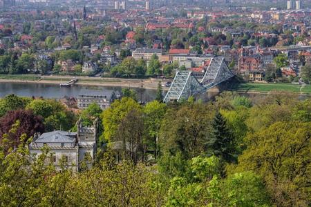 saxony: Dresden Blue Wonder  bridge, Saxony Germany