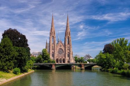 st pauls: St. Pauls Church in Strasbourg, France, Alsace, France
