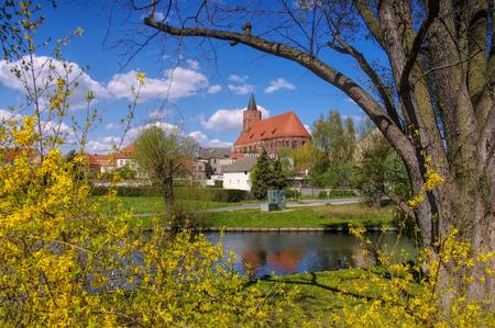 lower lusatia: church Marienkirche von Beeskow in Brandenburg, Germany
