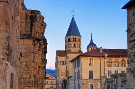 romanesque Cluny church in Burgundy, France