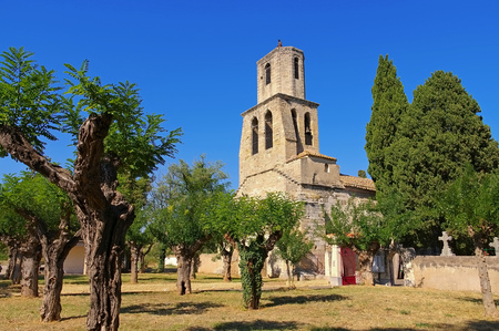 Paulhan church Notre-Dame des Vertus in southern France