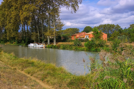 midi: Canal du Midi in France, Languedoc-Roussillon