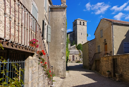 templars: La Couvertoirade a Medieval fortified town in Aveyron, France Stock Photo