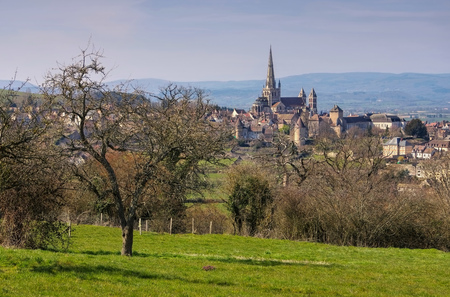 the town Autun in France, the famous cathedral