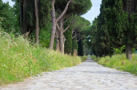 via: Rome Via Appia Antica Stock Photo