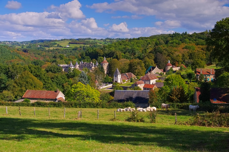 Chastellux-sur-Cure Chateau, Burgundy in France Stock Photo