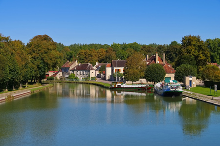 Tanlay Canal de Bourgogne in France