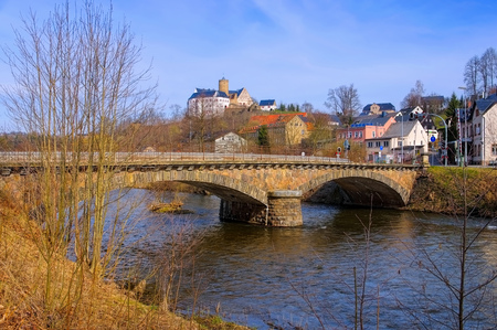 erz: Scharfenstein castle in Ore Mountains, Saxony in Germany Editorial