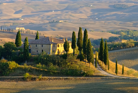 landscape in Tuscany Italy, in autumn