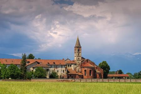 saluzzo: Staffarda abbey, Piedmont, Italy