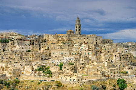 the town Matera in Basilicata, Italy