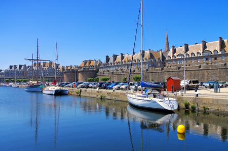 walled town of Saint-Malo in Brittany, France