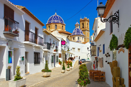 the old white town Altea on Costa Blanca, Spain