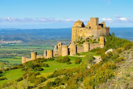 Castillo de Loarre cerca de Huesca, Aragón en España