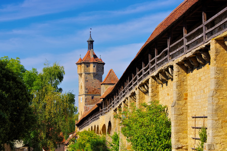 Rothenburg in Germany, the city wall Archivio Fotografico - 115563348