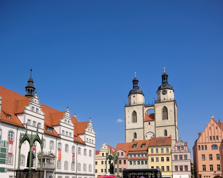 Wittenberg in Germany, Town and Parish Church of St. Mary's