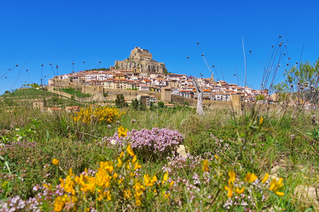 the old medieval town of Morella, Castellon in Spain
