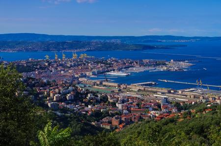 the italian town Trieste aerial view