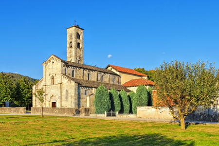Armeno church, Piedmont in Italy 版權商用圖片