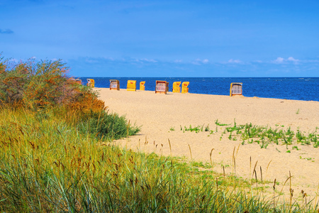 Poel beach at the black bush on the island of Poel in Germany