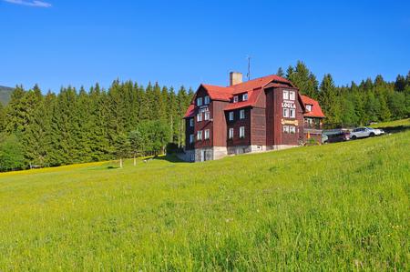 Pec pod Snezkou mountain hut in Giant Mountains in Bohemia