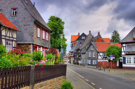 Goslar half timbered house in the old town Standard-Bild - 127362211