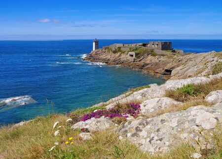Kermorvan lighthouse in Brittany, France