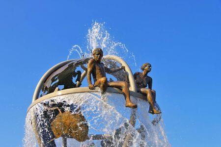 Dole fountain Le Doubs et la Loue in France
