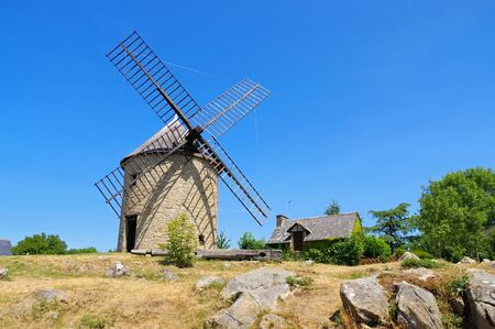 Mont-Dol windmill in Brittany, France